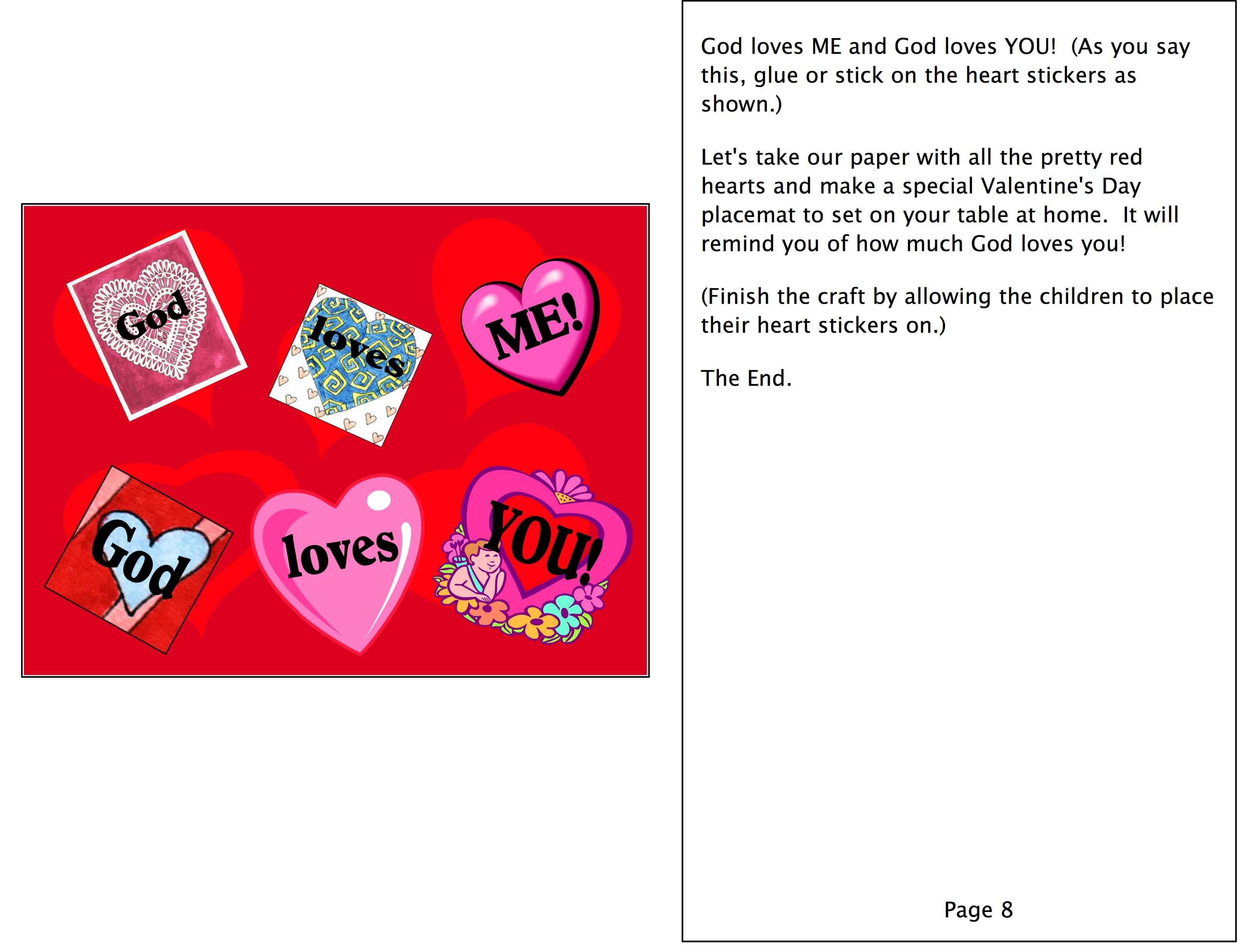 a story of god u0027s love a preschool bible lesson for valentines day