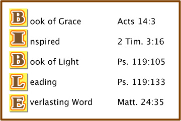 Bible Acrostics and Bible Lesson Outlines