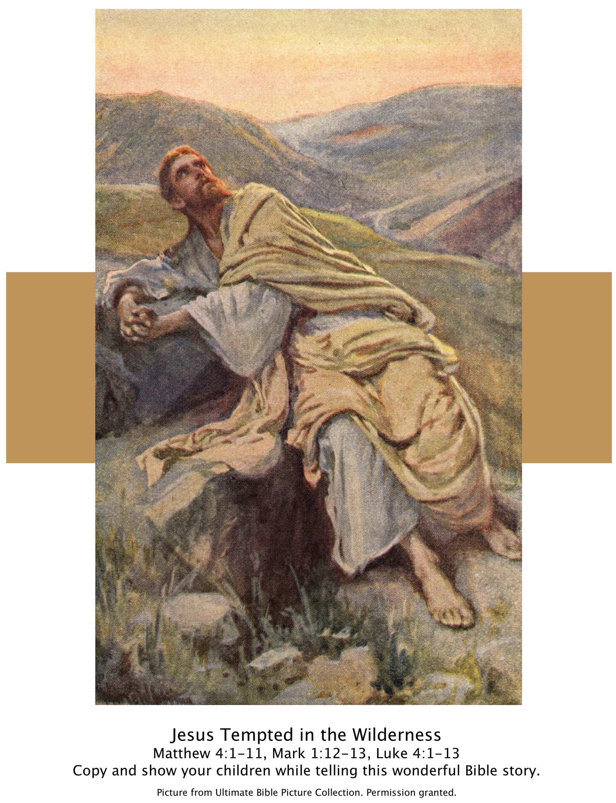 bible story pictures jesus u0027 temptation in the wilderness the