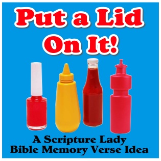 Put a Lid On It: A Bible Memory Verse Game for Kids