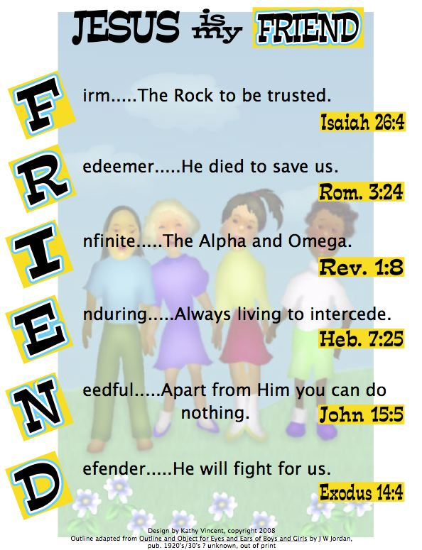 A Bible Acrostic For The Word Friend The Scripture Lady