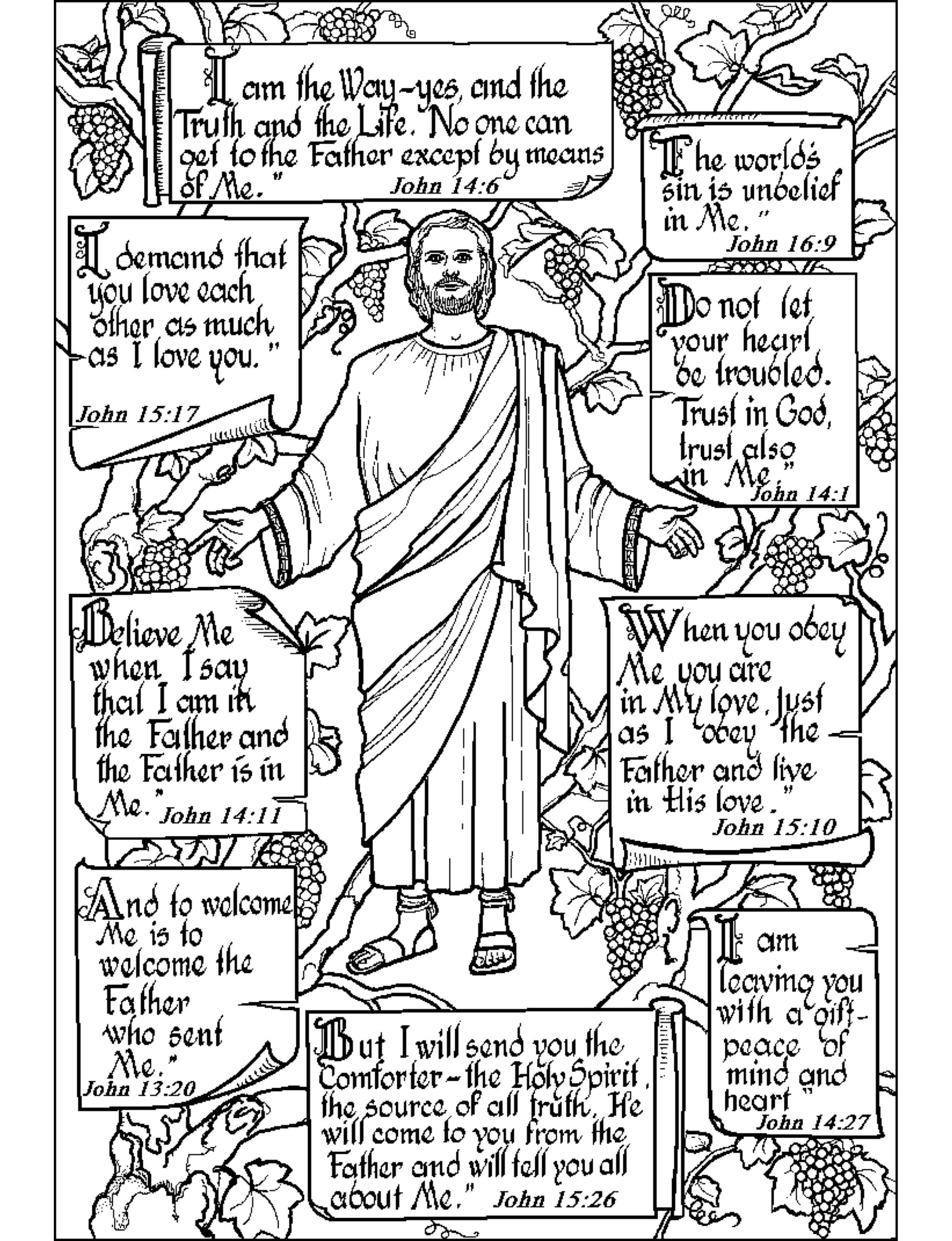 John The Baptism In Life Of Jesus Coloring Pages : Best Place to Color | 3225x2475