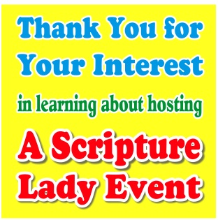 Scripture Lady's Events: Performances and Workshops