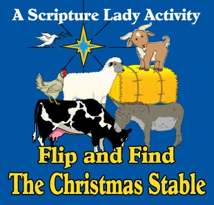 Flip and Find the Christmas Stable: A Christmas Bible Game for Young Children