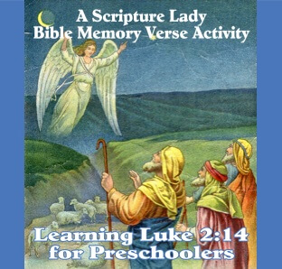 A Bible Memory Verse Activity for Luke 2:14 for Preschoolers