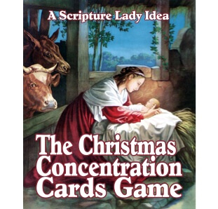 Christmas Concentration Cards Game by The Scripture Lady