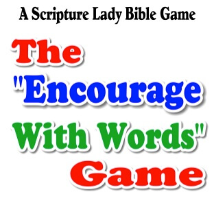 """The """"Encourage with Words"""" Bible Game for Kids"""