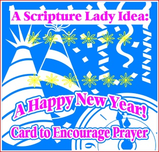 A Happy New Year Card for Children's Church or Family Time