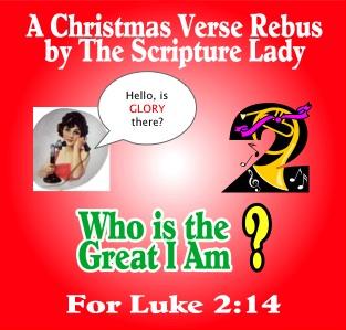 Bible Verse Rebus for Luke 2:14 – A Christmas Verse