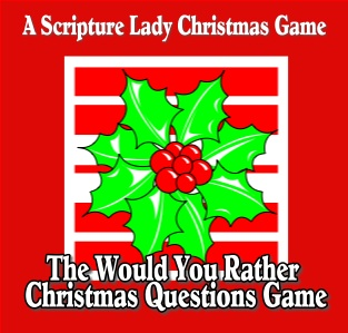 Would You Rather Christmas Questions Game for Children's Church