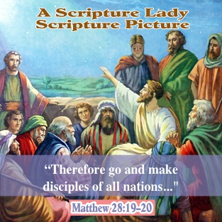 Jesus with the Disciples: Today's Scripture Picture from The Scripture Lady