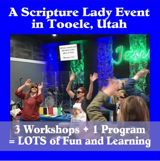 The Scripture Lady Event was a Success in Tooele, Utah!