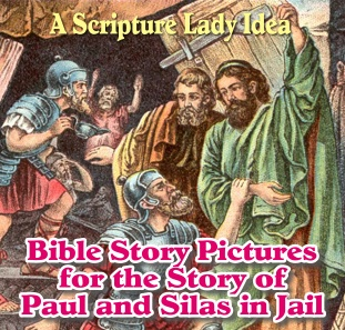 Bible Story Pictures for the Story of Paul and Silas in Jail