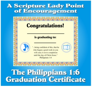 Philippians 1:6 Graduation Certificate for Children