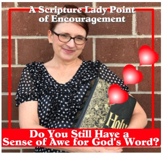 Do you still have a sense of awe for God's Word? by The Scripture Lady