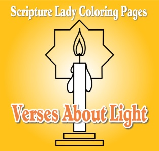 Bible Verse Coloring Pages for Light in the Bible by The Scripture Lady
