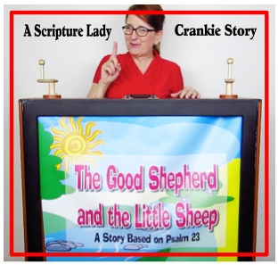 A Crankie Bible Story for Psalm 23 by The Scripture Lady