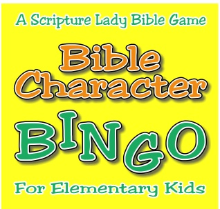 Bible Character Bingo for Elementary Kids by The Scripture Lady