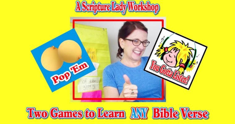 Two Bible Memory Verse Games: A Workshop Video from The Scripture Lady