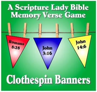 Clothespin Banners Bible Memory Verse Game